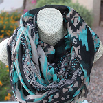 Fall Aztec Print Scarf with FREE Shipping